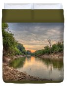Apple Creek At Dusk Duvet Cover