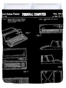 Apple Macintosh Patent 1983 Black Duvet Cover