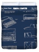 Apple Macintosh Patent 1983 Blue Duvet Cover