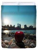 Apple On The Rocks Duvet Cover