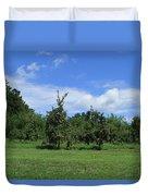 Apple Orchard At Vineyard Duvet Cover