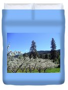 Apple Orchard In Bloom Duvet Cover