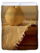 Apple Pear On A Table Duvet Cover