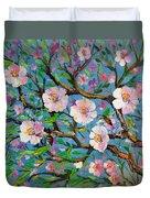 Apple Tree Blossom Duvet Cover