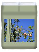 Apple Tree With Apples And Flowers. Amazing Nature Duvet Cover