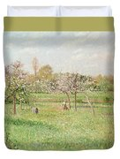 Apple Trees At Gragny Duvet Cover by Camille Pissarro
