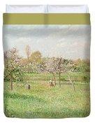 Apple Trees At Gragny Duvet Cover