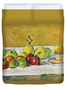 Apples And Biscuits Duvet Cover