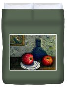 Apples And Bottles Duvet Cover