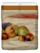 Apples And Grapes Duvet Cover