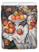 Apples And Oranges Duvet Cover by Paul Cezanne