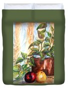 Apples And Plant Duvet Cover