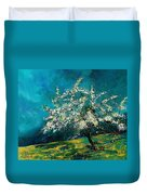 Appletree In Spring Duvet Cover