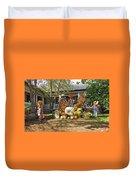 Applewood Farmhouse Grill Harvest Scene Duvet Cover