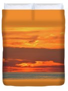 Approaching August Sunrise At Lake Simcoe  Duvet Cover