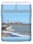 Approaching Chicago Duvet Cover