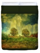 Approaching Storm At Antietam Duvet Cover by Lois Bryan