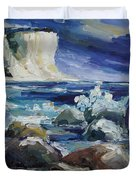 Approaching Storm At Kap Arkona Duvet Cover