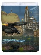 Approaching The Landing Pad Duvet Cover