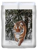 Approaching Tiger Duvet Cover