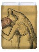 Apres Le Bain Femme S'essuyant Duvet Cover