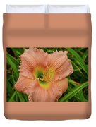 Apricot Day Lily Duvet Cover