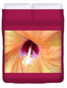 Apricot Hibiscus Flower Duvet Cover