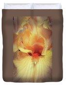 Apricot Iris Duvet Cover
