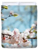 Apricots Bloom Duvet Cover