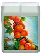 Apricots In The Garden Duvet Cover