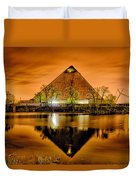 April 2015 - The Pyramid Sports Arena In Memphis Tennessee Duvet Cover