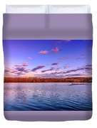April Evening At The Lake Duvet Cover