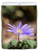 April Grecian Wind Flower  Duvet Cover