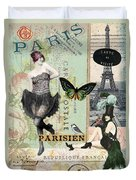 April In Paris Duvet Cover