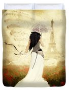 April In Paris Duvet Cover by Shanina Conway