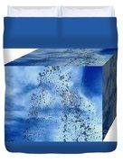 Aqua Art Cube Duvet Cover