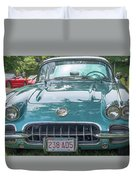 Aqua Blue 1959 Corvette  Duvet Cover