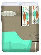 Aqua Chair Duvet Cover