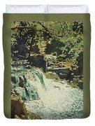 Aqua Falls Duvet Cover