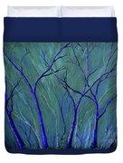 Aqua Forest Duvet Cover