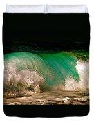 Aqua Green Wave Duvet Cover