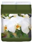 Aqua Lilies Duvet Cover