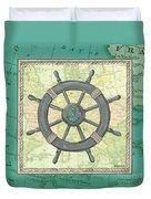 Aqua Maritime Duvet Cover