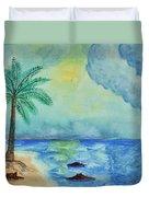 Aqua Sky Ocean Scene Duvet Cover
