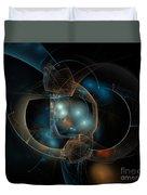 Aqua Wormholes Duvet Cover