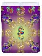 Aquarium Glow Purple Duvet Cover
