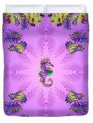 Aquarium Rising Lavender Duvet Cover