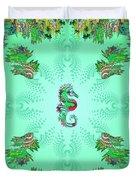 Aquarium Rising Mint Duvet Cover