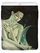 Aquarius From  Zodiac Signs Series Duvet Cover