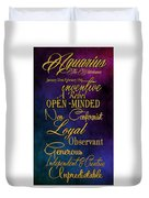 Aquarius Duvet Cover by Mamie Thornbrue